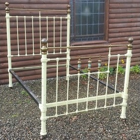 Category single thumb brass   iron bed