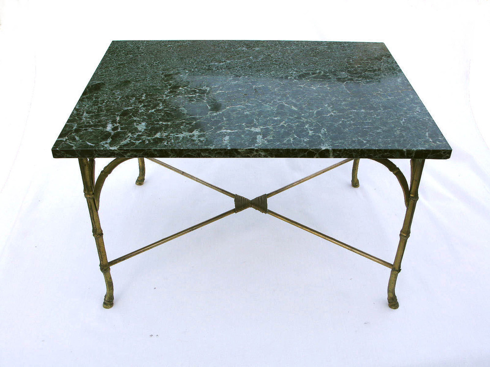 Retro 20thc Gt Pair Maison Bagues Marble Coffee Side