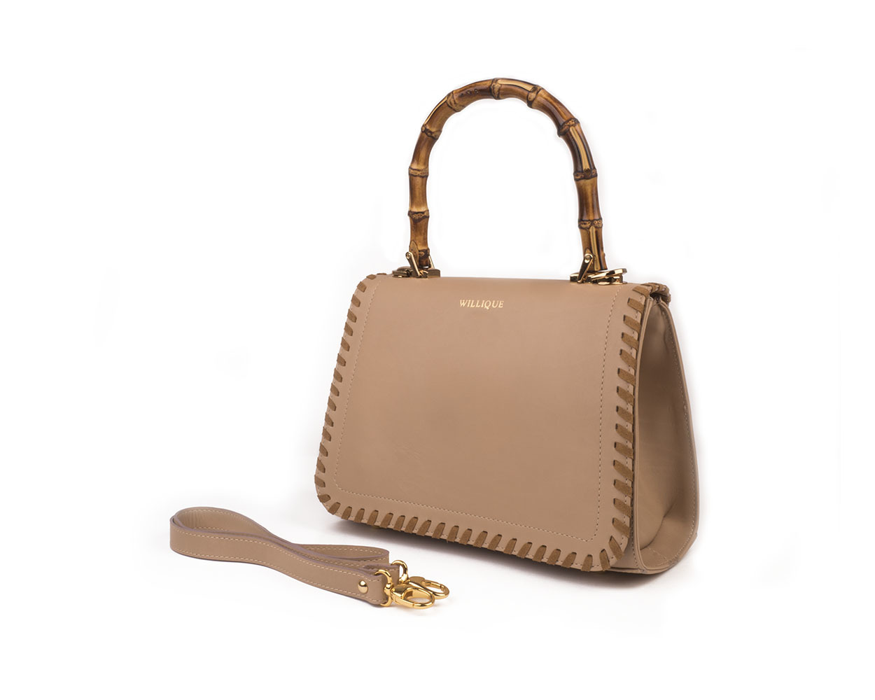 Willique handbag cream side web